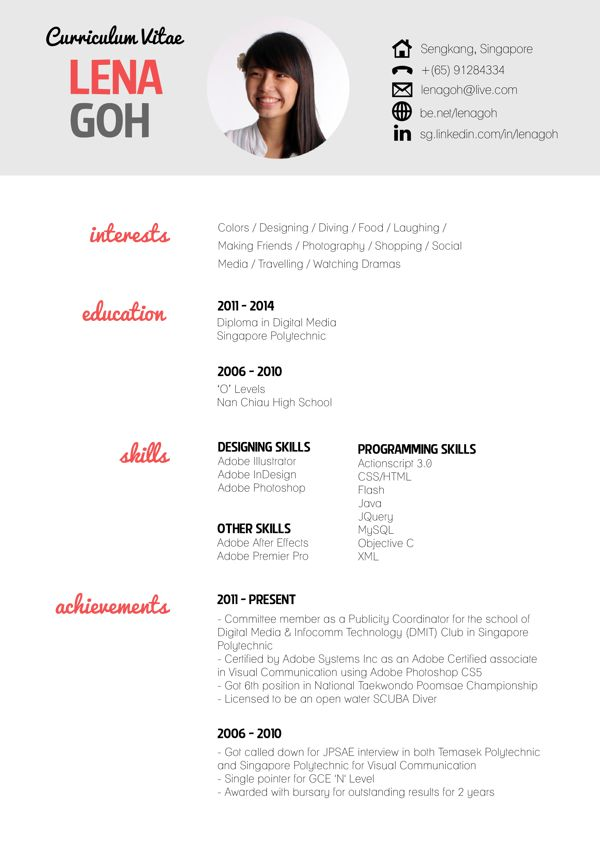 17 Best images about CV - RESUME - PORTFOLIO on Pinterest ...