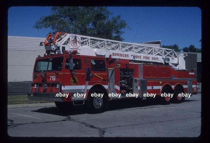 Downers Grove IL 1975 Hendrickson Pierce LTI 100  RM Aerial Fire Apparatus slide