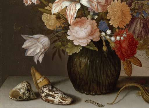 Still Life with Flowers, Balthasar van der Ast, c. 1625 - c. 1630 - Still lifes - Works of art - Explore the collection - Rijksmuseum