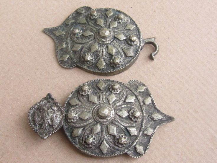 I would want to put on your attention Antique Ottoman / Greek silver alloy belt buckle - 19th c. Very good overall condition, without defects. Hand hamered. They weights 151.75 g. Length : 18 cm, width 6 cm.They were not cleaned with original patina. | eBay!