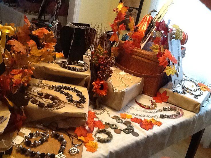 Fall Jewelry Party!  #handcrafted #handmadejewelry #jewelryparty #jewelrydisplay