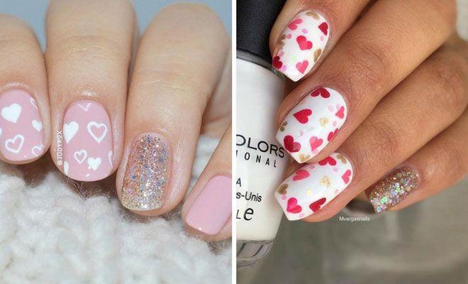 Pretty Nail Art Designs for Valentine's Day