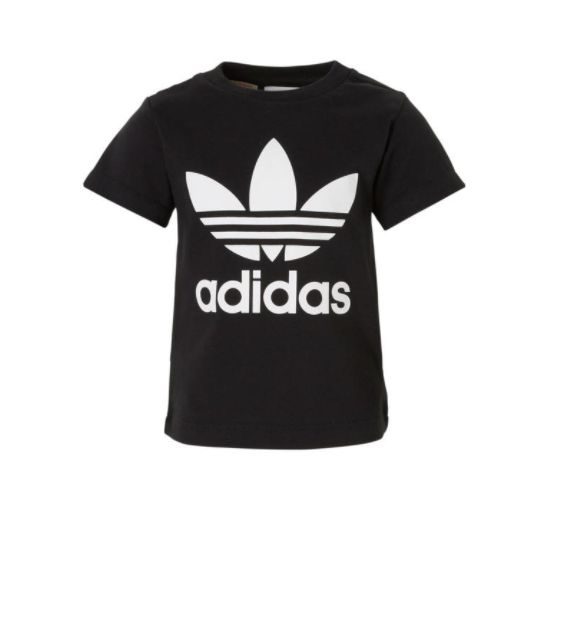 Adidas baby T-shirt bij wehkamp #adidas #baby #wehkamp #tshirt #shirt #zwart #wit #outfit #newborn #jongen #meisje