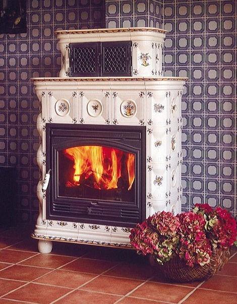 Traditional Ceramic Tile Wood Burning Stove: ALEXA…