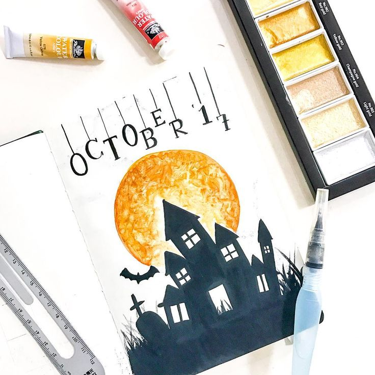 25 Scary Halloween Bullet Journal Page Ideas