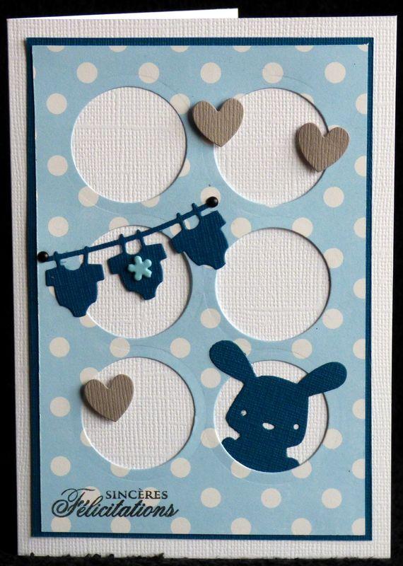 Un sketch ... un lapin ... des bodies ... du bleu ... une carte de naissance garçon !