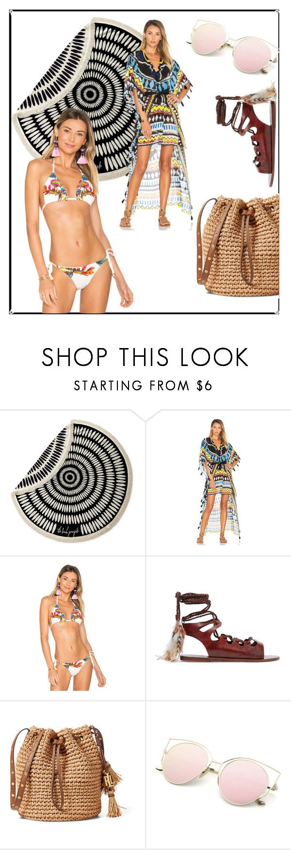 """""""agua bendita"""" by iternnity ❤ liked on Polyvore featuring The Beach People, Agua Bendita and Ancient Greek Sandals"""