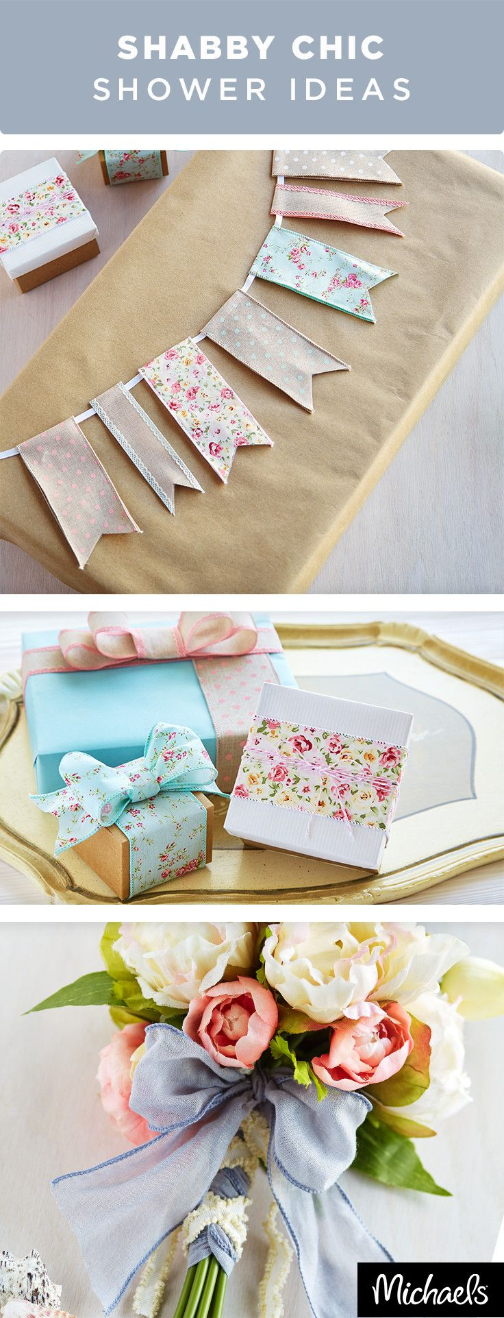 Craft fun and whimsical baby shower décor with ribbon, tassels and cute favor boxes. Use colorful ribbons to make a party banner or wrap up simple gift boxes. Get all of the supplies you need to host a beautiful baby shower at your local Michaels store.