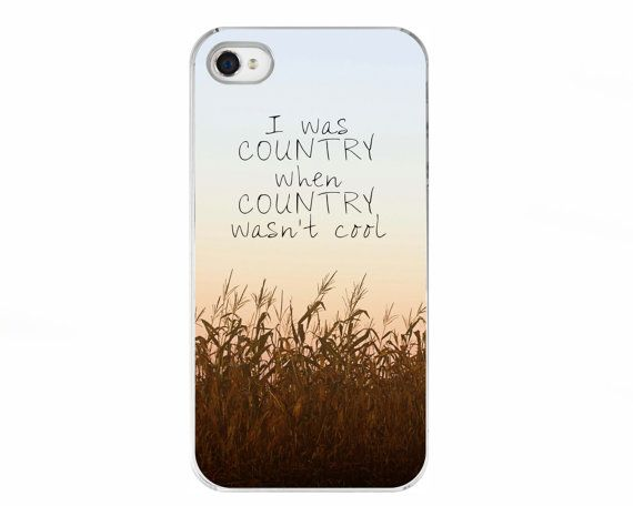 Quote iPhone 5 and 5S Case Accessory - Country - Quote, Country, Corn Field on Etsy, $30.00