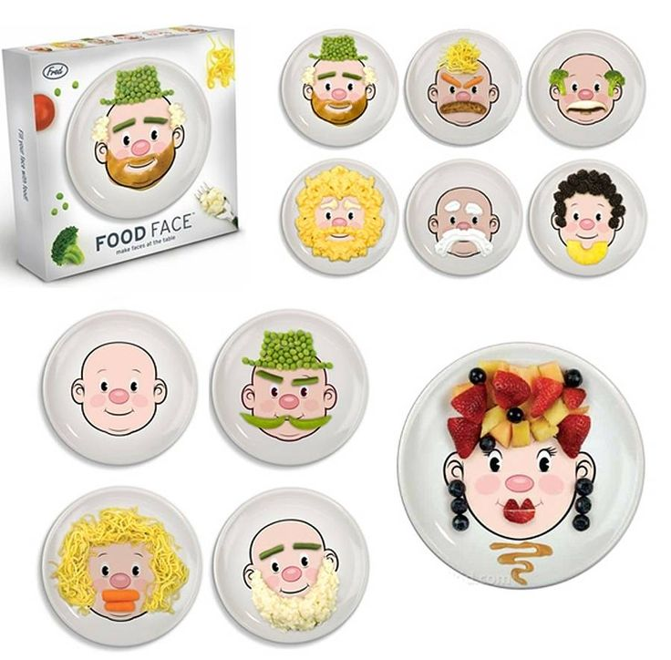 Mr Food Face Kids Plate By Posh Totty Designs Interiors |  Notonthehighstreet.com