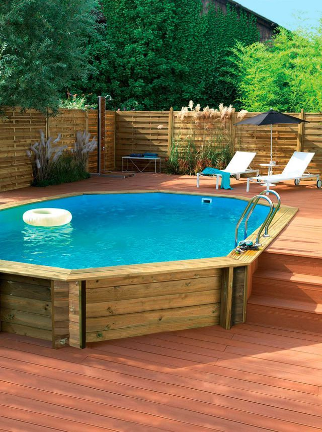 Only best 25 ideas about piscine bois on pinterest for Petite piscine semi enterree