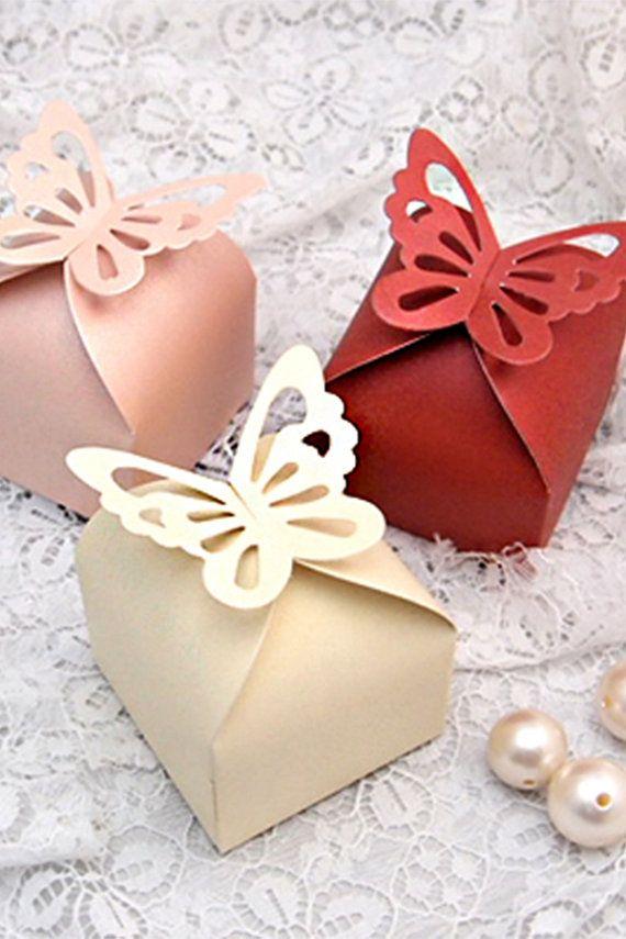100 farfalla favore scatole-pastello rosa caramella matrimonio-scatole Bomboniere-acquazzone Bridal favore scatola regalo scatola-Treat Box-tavolo decorazione FVB222BTF