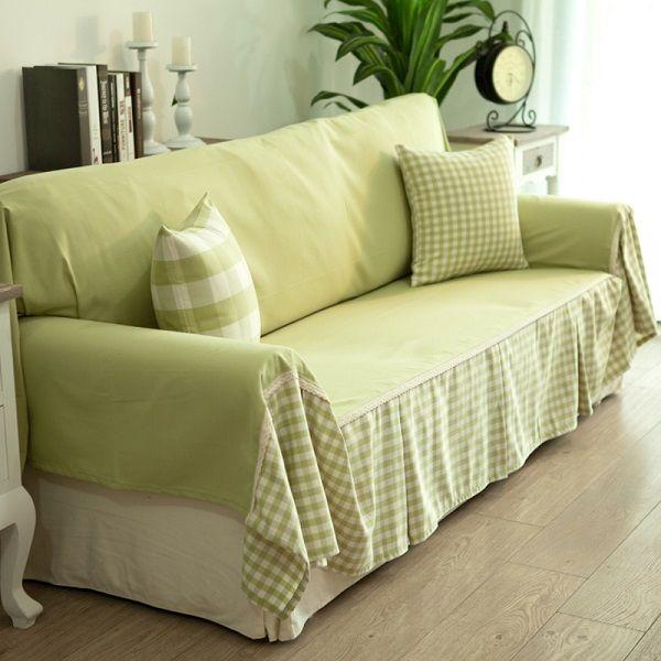 Diy Sofa Cover Ideas Green Fabrics Decorative Pillows Diffe Patterns
