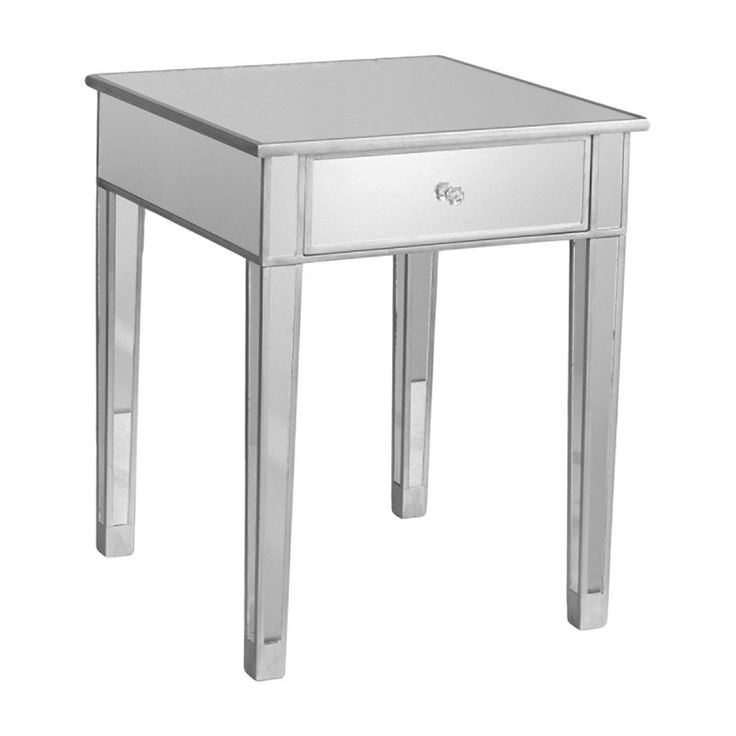 Southern Enterprises Bardot Mirrored Accent table | from hayneedle.com