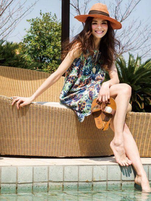 Viaggio Blu ボタニカル柄ノースリーブワンピース / Pretty Summer Dresses on SALE! on ShopStyle