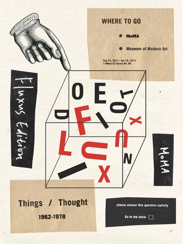 Fluxus Poster by Annie Jen, via Behance
