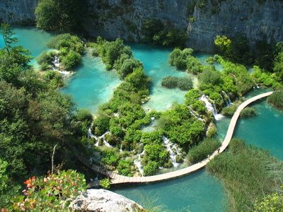 Plitvice Lakes, Croatia... This is on my top ten places I have to visit before I die list.  :)