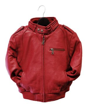 Another great find on #zulily! Tanners Avenue Red Leather Moto Bomber Jacket - Infant, Toddler & Kids by Tanners Avenue #zulilyfinds