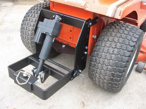 Johnny Products - Universal electric sleeve hitch for quality lawn and garden tractors. This product allows you to attach sleeve hitch products (like the Brinly-Hardy plows and cultivators) to your garden tractor. It includes an electric lift.