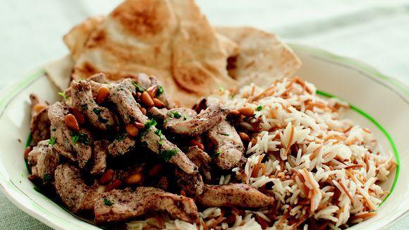 """Hähnchen-Schawarma aus """"Die libanesische Küche"""""""