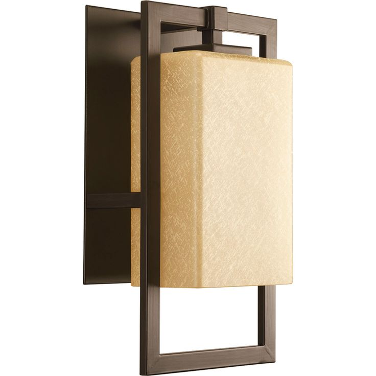 Off Jack Antique Bronze One Light Outdoor Wall Mount by Progress Lighting. design and etched umber flax glass shade.  sc 1 st  Pinterest & 1722 best Lighting Fixtures images on Pinterest | Home and garden ... azcodes.com