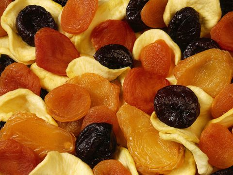 #2: Be picky if it's sticky When it comes to picking healthy snacks, many people put dried fruit at the top of the list. But many dried fruits are sticky and sticky foods tend to stay on the teeth longer than other types of food. If you find yourself eating a lot of dried fruits such as cranberries, make sure to rinse with water and brush carefully.