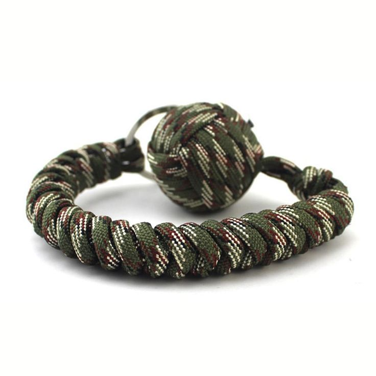 New Parachute Cord Stainless Steel Ball Key chain Outdoor Climbing Camping Survival Kits Travel Kit Emergency Tool