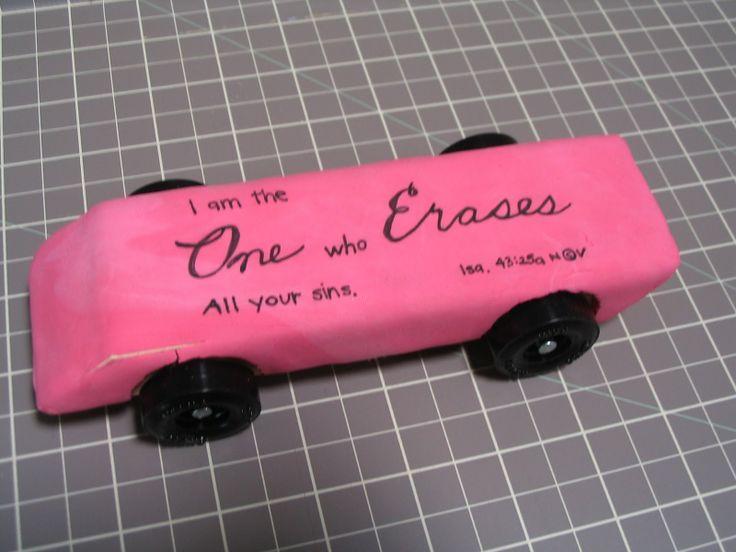 eraser pinewood derby car