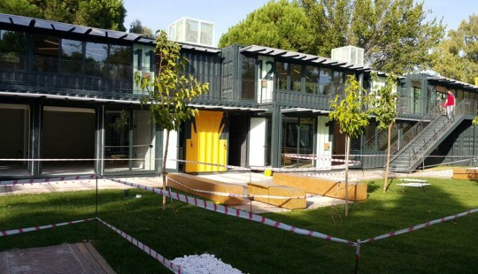 This is a shipping container university in Turkey. Log in to see more images, floor plans and drawings. Shipping container home INFO should be FREE. Join the shipping container homes BUILDERS. NEVER PAY FOR INFO. FREE REGISTRATION AT: http://cargocontainerhome101.com