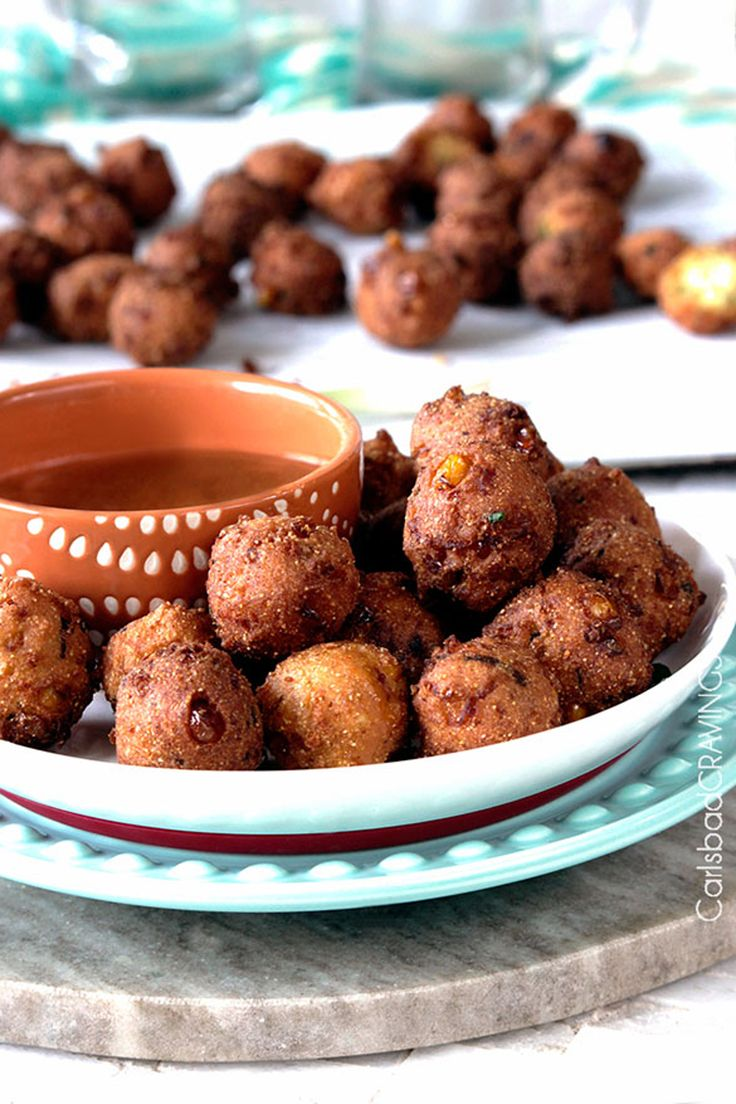 We guarantee these will be the best hush puppies you ever try. Get the recipe for Bacon & Pepper Jack Hush Puppies with Sweet Chili Dijon Sauce.