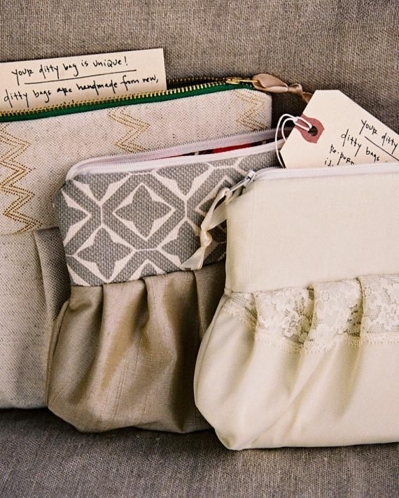 Dickie Morris of Just a Little Ditty incorporated fabric from the groom's late mother's clothing into a clutch for the bride, keeping the mom's memory in hand as the duo created new memories.