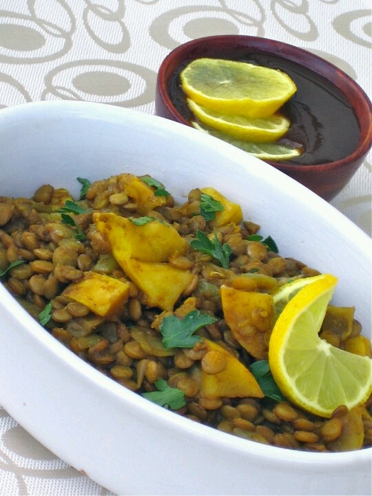 pumpkin lentil curry