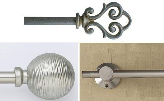 Best of Three:  Decorative Curtain Rods