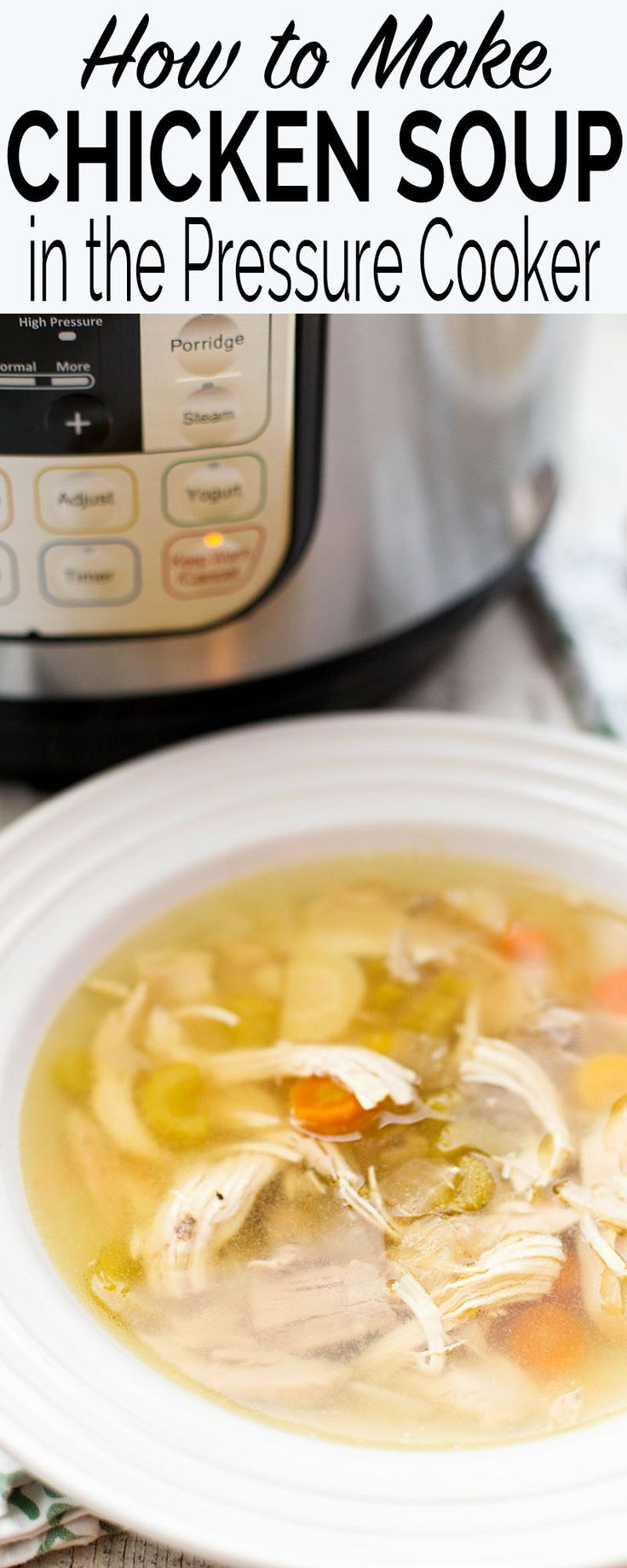 Quick chicken soup in the pressure cooker! Classic recipe with whole chicken (or…