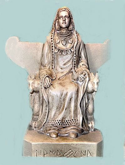 Ataegina or Ataecina was a popular goddess worshipped by the ancient Iberians, Lusitanians, and Celtiberians of the Iberian Peninsula. She is the goddess of the vital cycle, the death and the regeneration and the annual cyclical changes. His symbolic animal is the goat and its tree is the cypress.