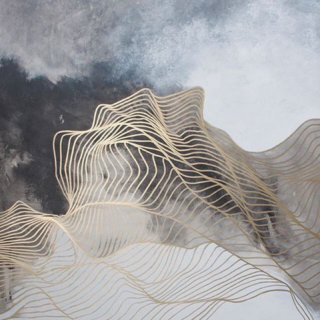 Beautiful abstact painting by Tracie Cheng @traciecheng    #art #painting…