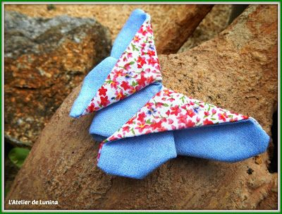 DIY Couture Origami Papillon - Sewing Butterfly