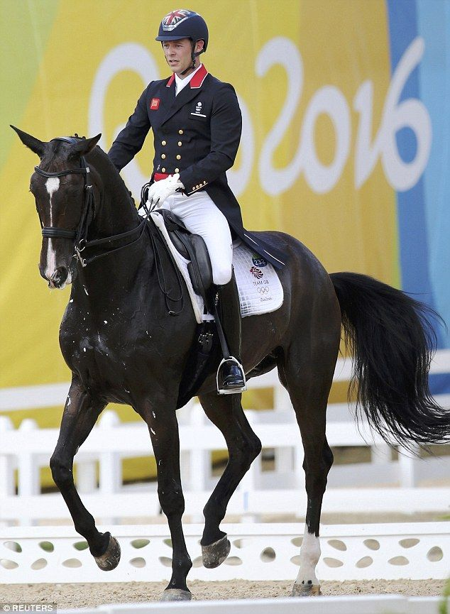 Spencer Wilton, riding Super Nova II, was first up for Britain today, scoring 73.739 per cent