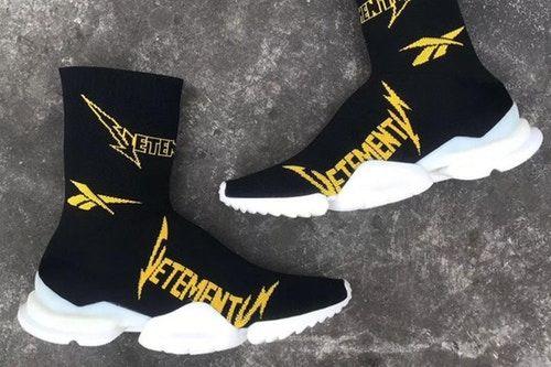 A Closer Look at the Vetements x Reebok Fall Winter 2019 Crew Sock Runner e222efc7c189