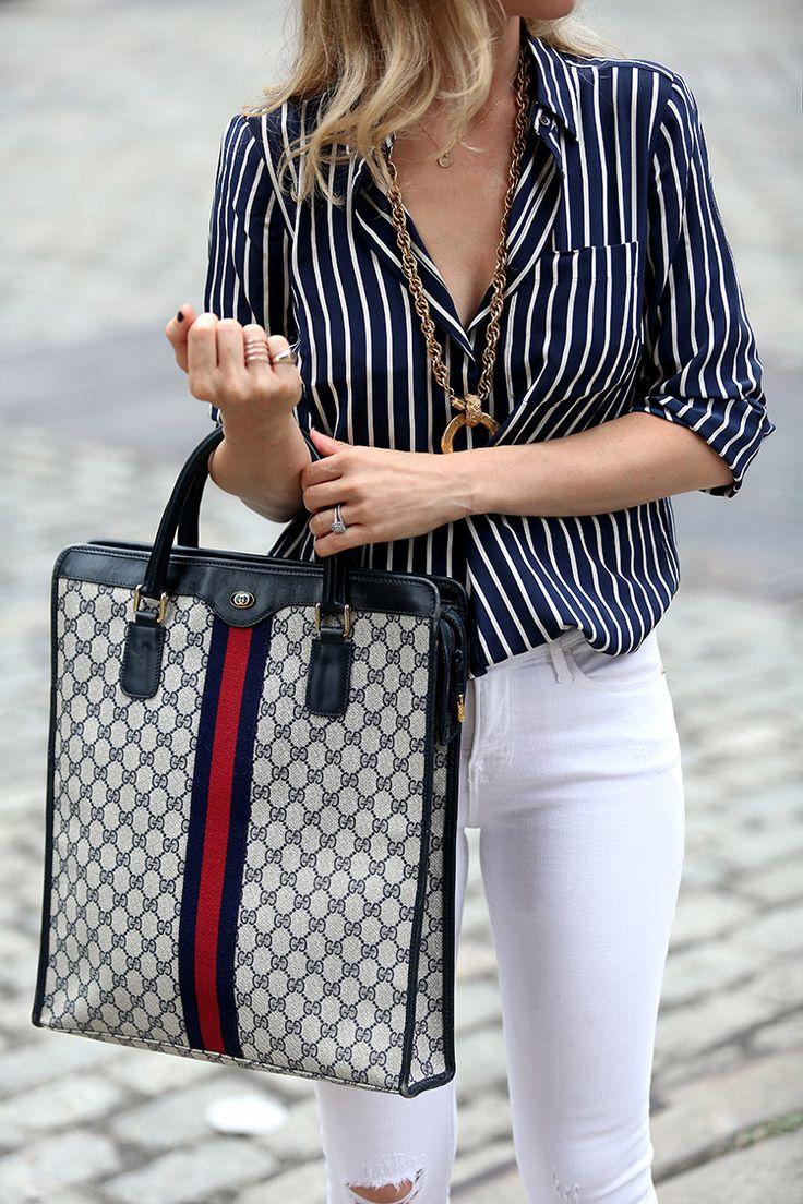 Chanel handbag superb vintage chanel bag vintage leather - White Denim Transition By Brooklyn Blonde Top J Crew X Netaporter Denim Vintage Chanel Bagchanel Bagsbrooklyn
