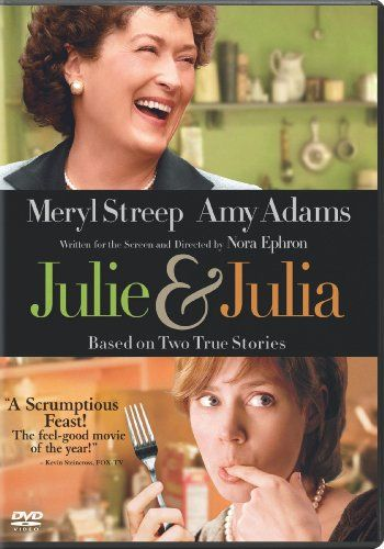 Julie & Julia (2009) Julia Child's story of her start in the cooking profession is intertwined with blogger Julie Powell's 2002 challenge to cook all the recipes in Child's first book. Amy Adams, Meryl Streep, Chris Messina