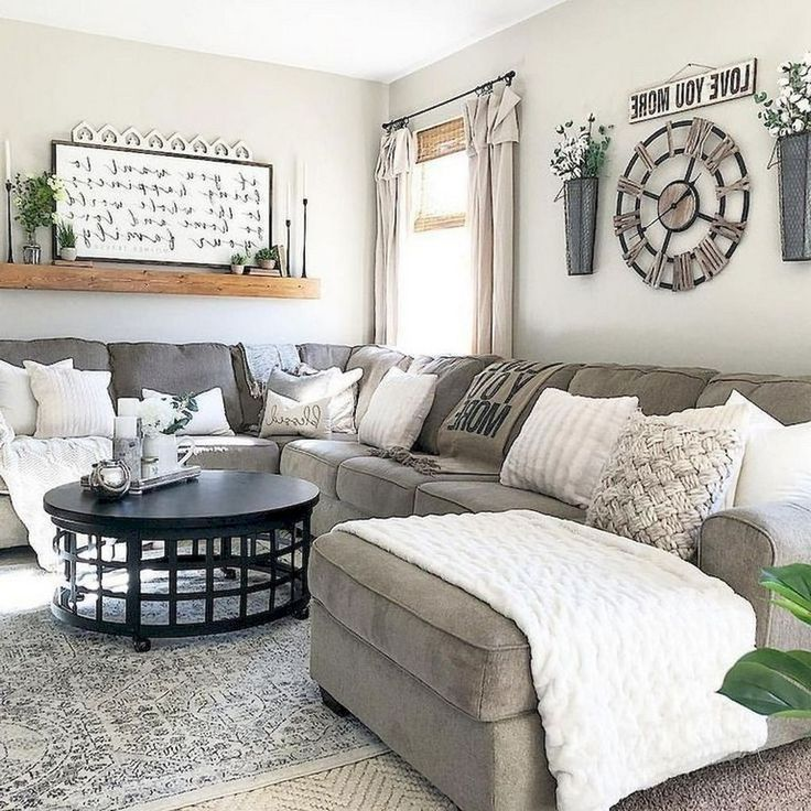 46 Best Living Room Decor Ideas With Farmhouse Style #wohnzimmer