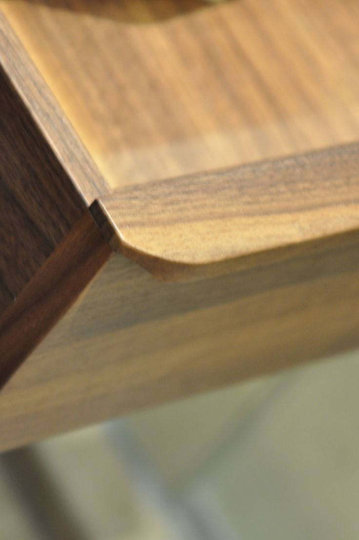 wooden handle detail
