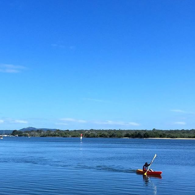 It's all blue on blue along the Noosa River! Only a 5 minute drive from Noosa Heads, these calm waters are the perfect spot for water sports including kayaking, stand up paddling and boating!