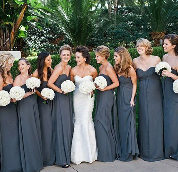 10 of Our Favorite Fall Wedding Ideas | Bridal Guide5. For your bridesmaid dresses, opt for slightly darker shades of your favorite summer colors, like charcoal instead of elephant grey or dusty rose over blush.