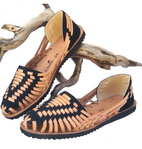 Black Huarache Sandals by Camboria. Ethnic & boho look