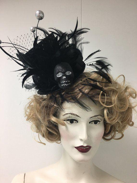 ca8fd515e6 Halloween Fascinator Mini Top Hat Halloween Headwear in 2018