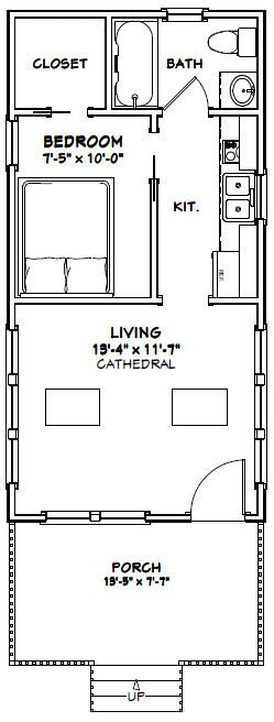 14×28 Tiny House — 391Sq. Ft. — #14X28H3E – Exce…