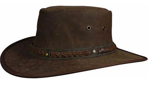 Barmah 1018 Squashy Roo Kangaroo Leather Hat - Limestone/Hickorystone/Brown Crackle/Hickory Crackle