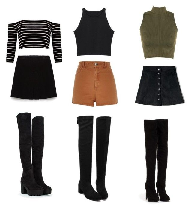 """Knee high boots"" by valth on Polyvore featuring moda, Zara, Nly Shoes, River Island, WearAll y Abercrombie & Fitch"